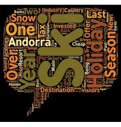 New Cash For 2008 Andorra Ski Holidays text vector image