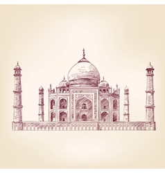 Taj Mahal India vector image