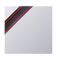 Black mourning corner ribbon vector image vector image