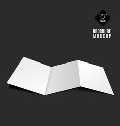 blank tri-fold brochure vector image vector image