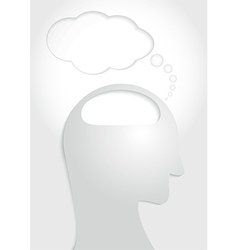 Human head think concept vector image vector image