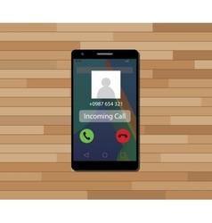 incoming call single isolated object with single vector image