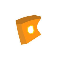 Paper box of french fries crushed garbage vector