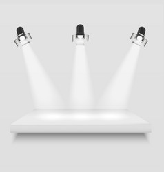 realistic 3d light box with platform vector image vector image
