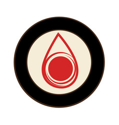 round frame with liquid drop vector image
