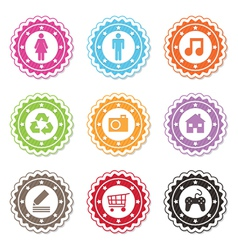 web badges vector image vector image