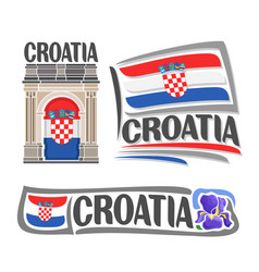 logo for croatia vector image vector image