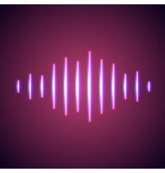 Nightlife styled glowing neon music wave vector image
