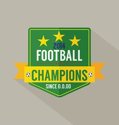 Soccer or Football Champions Badge vector image