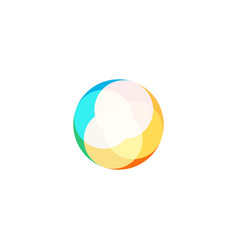 abstract circle icon on white background vector image