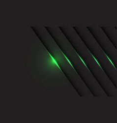 Abstract green light line shadow on grey vector