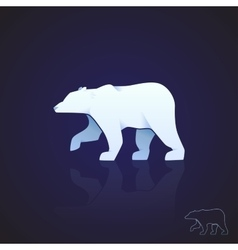 Abstract logo polar bear vector