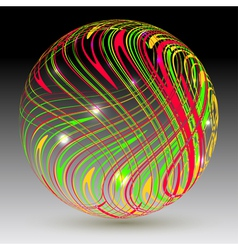 Abstract sphere on a black background vector image