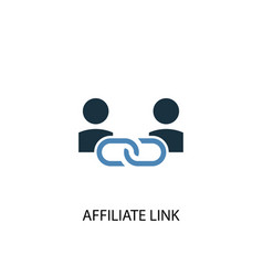 Affiliate link concept 2 colored icon simple blue vector