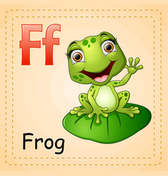 Animals alphabet f is for frog vector