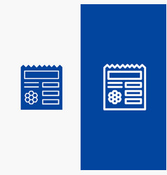 basic ui manu document line and glyph solid icon vector image