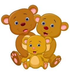 Bear family cartoon vector image