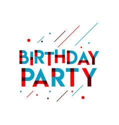 Birthday party template design vector