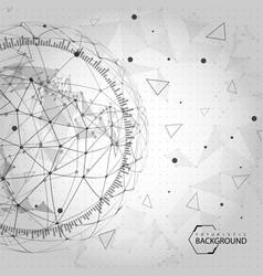 Black and white futuristic background vector