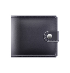 black purse for money male vector image