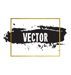 brush stroke card vector image