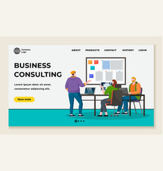 business consulting website with information vector image