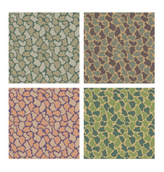 camouflage pattern design with different color vector image