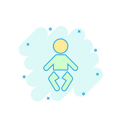 cartoon baby icon in comic style child sign vector image
