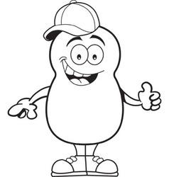 Cartoon potato giving thumbs up vector image