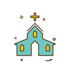 church icon design vector image