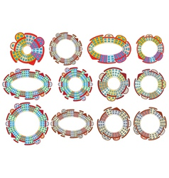 circles made of buildings vector image