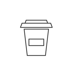 coffee cup drink line icon simple modern flat for vector image