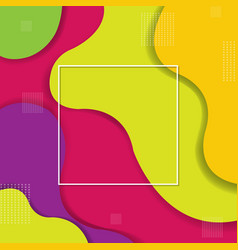 colorful background with line and symbol vector image