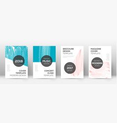 Cover page design template modern brochure layout vector