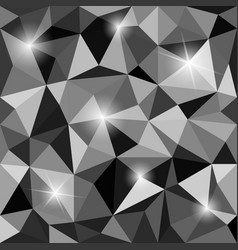 Crystal textured black and white abstract vector