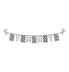 Decorations bunting flags for liberia national vector