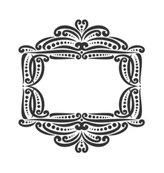 decorative black frame vector image