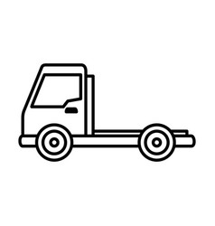 delivery truck vehicle isolated icon vector image