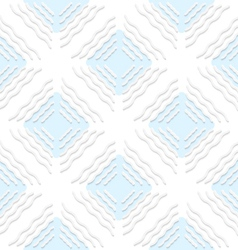 Diagonal white wavy lines with blue pattern vector
