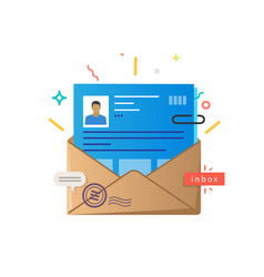 Envelope with a human profile vector