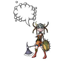 Female viking-100 vector