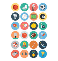 flat sports icons 1 vector image