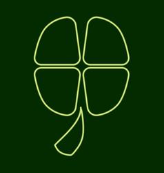 Four-leaf clover stpatrick s day vector