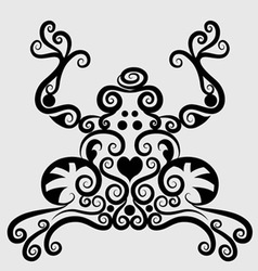 Frog decorative vector