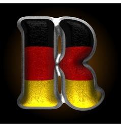 Germany metal figure r vector