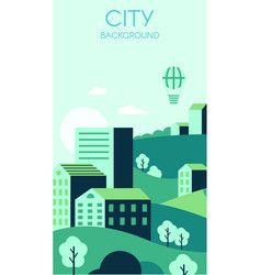 green city background environmental protection vector image