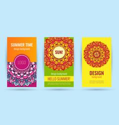 hello summer elegant poster summer time vector image