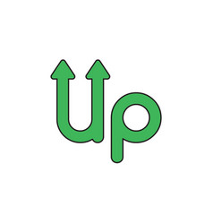 icon concept up word with arrows up vector image