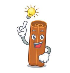 Idea cinnamon mascot cartoon style vector