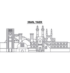 Iran yazd line skyline iran vector
